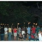 Jovens católicos cubanos testemunham fé em locais públicos