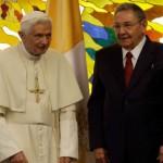 Bento XVI participa de encontro privado com Raúl Castro
