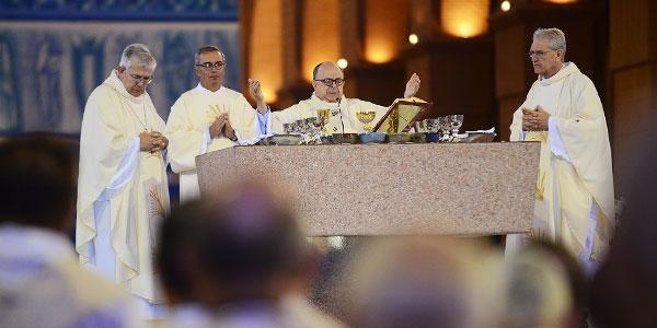 Presidência da CNBB preside Missa de abertura da 52ª AG. FOTO: Wesley Almeida