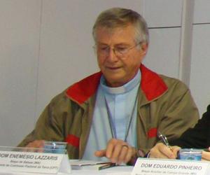 o bispo de Balsas (MA) e presidente de Comissão Pastoral da Terra, Dom Enemésio Lazzaris. FOTO: Alessandra Borges