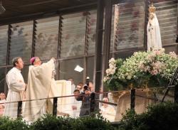 Em Fátima, patriarca reza pela paz na Terra Santa