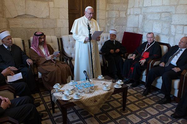 papa e grão mufti de jerusalém