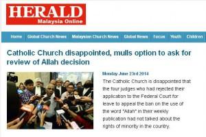 Herald Alá proibição