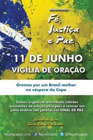 Movimento propõe vigília de oração pela Copa do Mundo