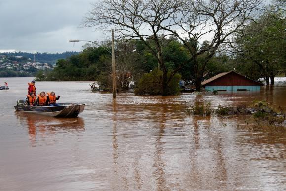 Barra do Guarita é um dos municípios gaúchos atingidos pela chuva / Foto: Divulgação Defesa Civil