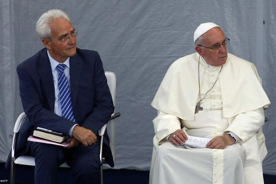 Francisco e Giovanni se encontraram com comunidade evangélica local / Foto: L' Osservatore Romano