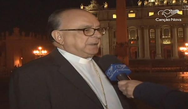 Cardeal Damasceno em entrevista à TV Canção Nova; ele é presidente-delegado do Sínodo sobre família / Foto: Reprodução