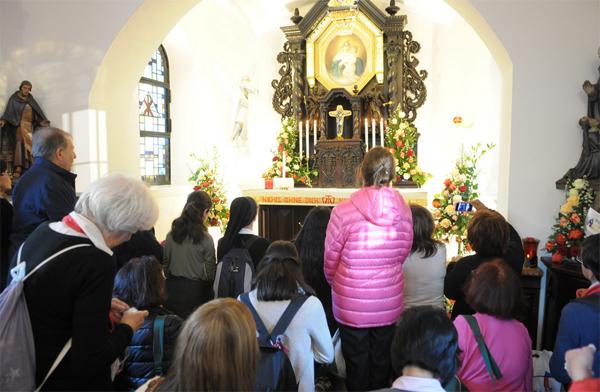 Fiéis no Santuário Original de Schoenstatt no último dia da peregrinação / Foto: Site Oficial do Movimento