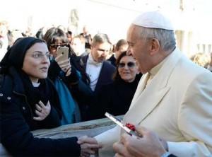 Irmã Cristina encontra-se com o Papa Francisco em Roma / Foto: L'Osservatore Romano