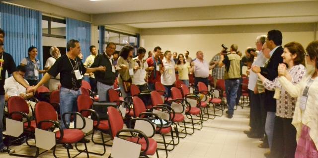 Participantes do encontro latino-americano avaliam os impactos da mineração / Foto: Assessoria do encontro
