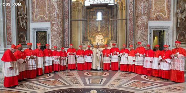 Papa Francisco reunido com 19 dos vinte novos cardeais / Foto: L'Osservatore Romano