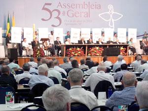 Bispos e líderes de outras denominações cristãs em sessão solene em homenagem ao CVII / Foto: Jéssica Marçal