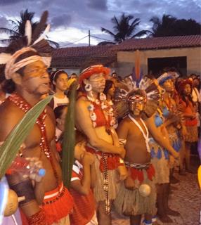 Assim como na época, índios participaram da Santa Missa / Foto: Jerusa Brandão - JBcomunicação