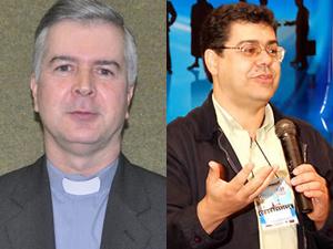 Dom Wilson (esq.), transferido para Taubaté, e padre Edson, nomeado bispo auxiliar de BH