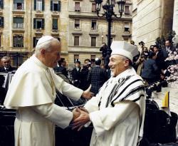 JPII na visita à sinagoga de Roma em 1986 / Foto: Arquivo - news.va
