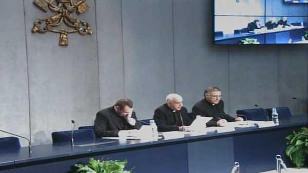 No Vaticano, responsáveis pela organização do Jubileu da Misericórdia apresentam programação aos jornalistas / Foto: Reprodução CTV