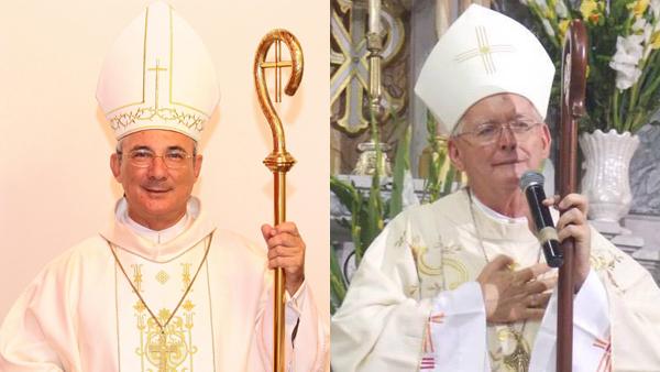 Dom Pedro Cipolini (esq.) e Dom Guerrino Riccardo / Foto: Arquivo das arquidioceses