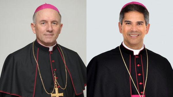 Dom Rafael (esq.) e Dom João, nomeados bispos para dioceses de Blumenau e Bom Jesus da Lapa, respectivamente / Foto: Montagem-Arquivo