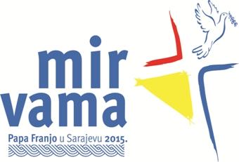 Logo da viagem do Papa a Sarajevo, com o tema da paz
