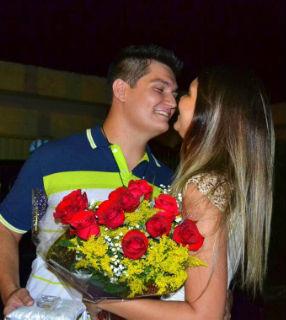O casal de noivos Maria Adélia e Geraldo, juntos há 1 ano e seis meses / Foto: Arquivo Pessoal