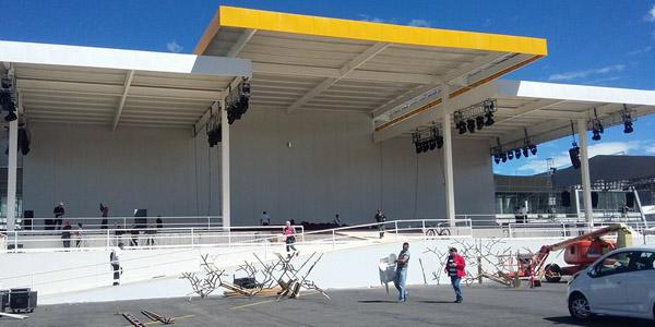 Estrutura utilizada pelo Papa Francisco na Missa  celebrada em Quito, no Equador / Foto: Arquivo CN