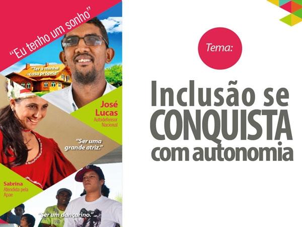 De 21 a 28 de agosto, Apaes de todo o BRasil conscientizam sobre a inclusão dos portadores de deficiência intelectual e múltipla / Cartaz de Divulgação