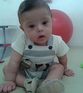 O pequeno Mateus, de seis meses, filho de Zélia e Antônio Carlos / Foto: Arquivo Pessoal