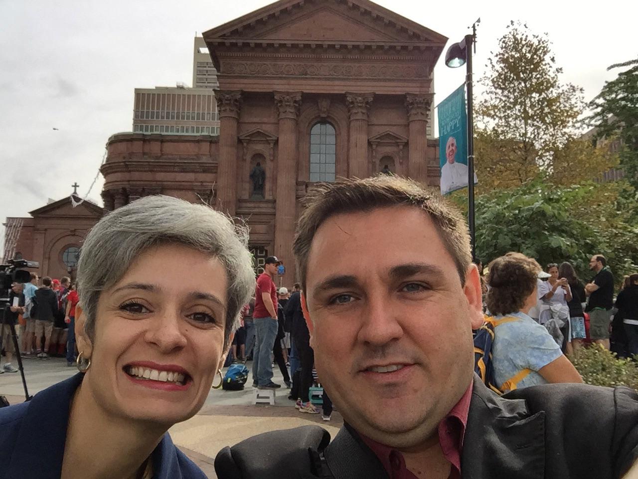 Nossos correspondentes nos EUA, aguardando a chegada do Santo Padre