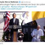 Twitter: acompanhe a cobertura da viagem do Papa aos EUA