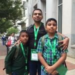 Famílias e profissionais da comunicação chegam à Filadélfia