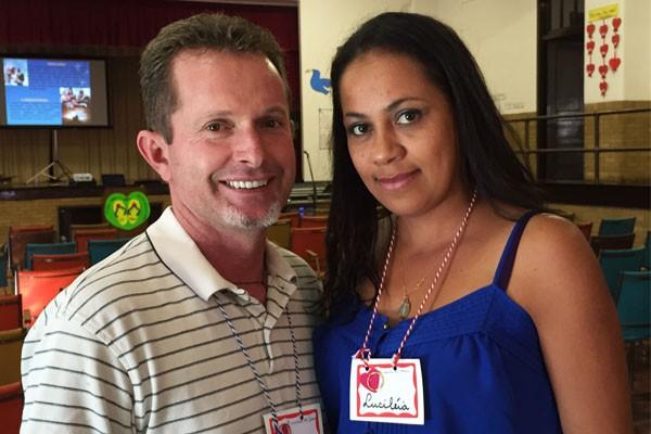 Francisco e Lucileia Almeida casados há 12 anos, participam pela primeira vez de um retiro para casais. Foto: Rodrigo Luiz/cancaonova.com