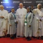 Religiosas Ir. Maria Elida Ocampos e Daisy kollamparampil da Congregação Irmãs do Horto / Foto: Rodrigo Luiz