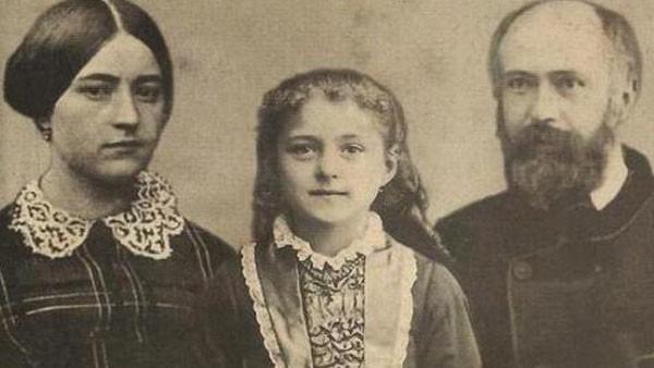 Santa Teresinha e seus pais, Louis e Zélie Martin.