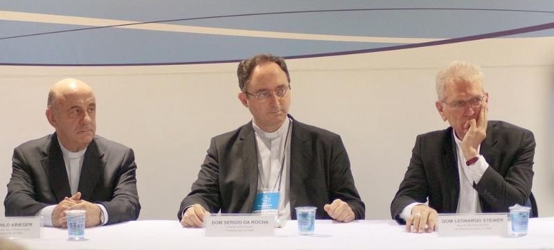 Atual presidência; Na ordem: Dom Murilo Krieger, Dom Sergio da Rocha e Dom Leonardo Steiner / Foto: CNBB