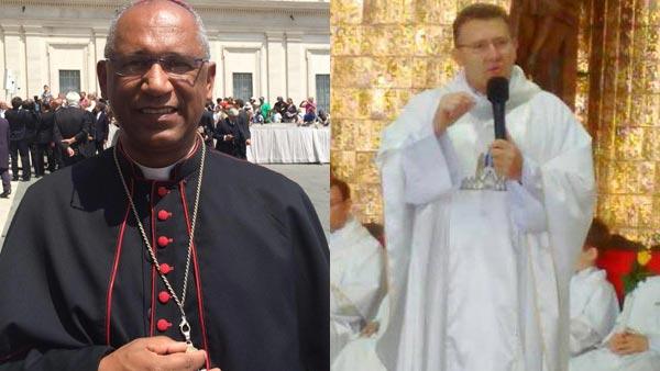 Dom Zanoni Demettino Castro, novo Bispo de Feira de Santama (BA) e padre Nélio Domingos Zortea, novo Bispo de Jataí (GO) / Foto: Diocese de São Mateus e facebook da Catedral de Cascavel (PR)