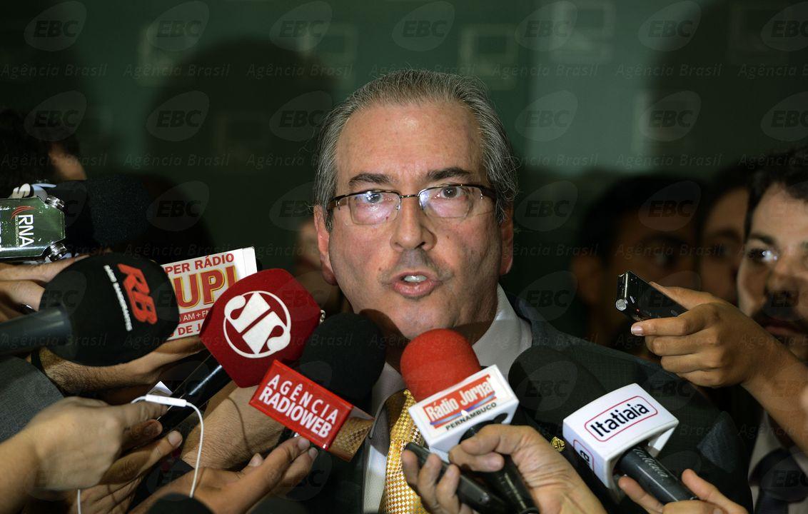 Eduardo Cunha, informou em entrevista coletiva que aceitou pedido de abertura de processo de impeachment da presidente Dilma Rousseff / Foto:  Valter Campanato - Agência Brasil