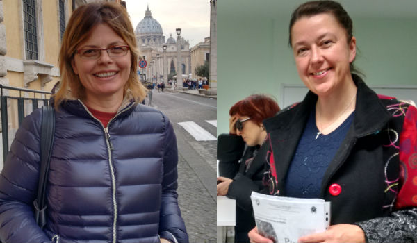 Aulona Arapi e Hana Francáková / Foto: Catarina Jatobá - Canção Nova