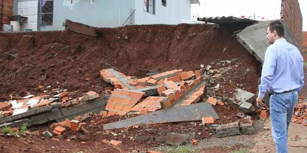 Casas atingidas pela chuva em Rolândia / Foto: Prefeitura de Rolândia