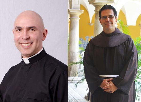 Padre Ricardo Hoepers, foto à esquerda, e frei Carlos Alberto Breis Pereira, foto à direita / Fonte: CNBB
