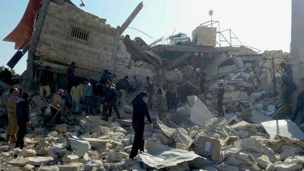 Hospital do MSF, na Sìria, destruído após ataque em fevereiro de 2016o / Foto: MSF