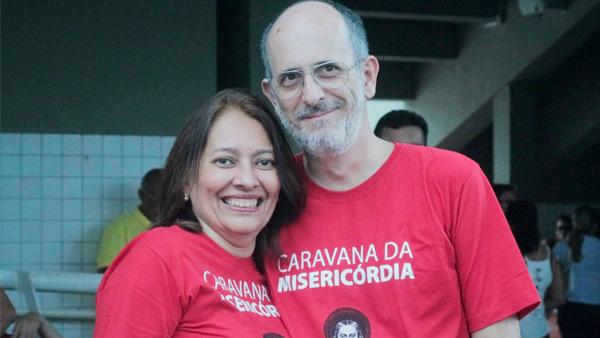 O casal Celeste e Eduardo Junqueira / Foto: Dayane Ramos