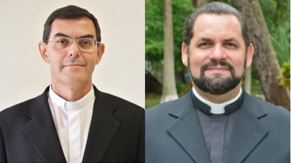 Padre Luiz Carlos (esq.) e padre José Albuquerque / Foto: Montagem-CNBB