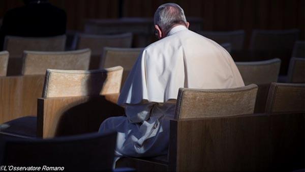 Papa na conclusão dos exercícios espirituais / Foto: L'Osservatore Romano