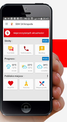 Visão preliminar de como será o aplicativo / Foto: Reprodução krakow2016.com