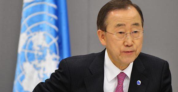 """""""Estou alarmado com a xenofobia crescente aqui e além"""",disse o secretário-geral da Organização das Nações Unidas (ONU), Ban Ki-moon, nesta quinta-feira,28"""
