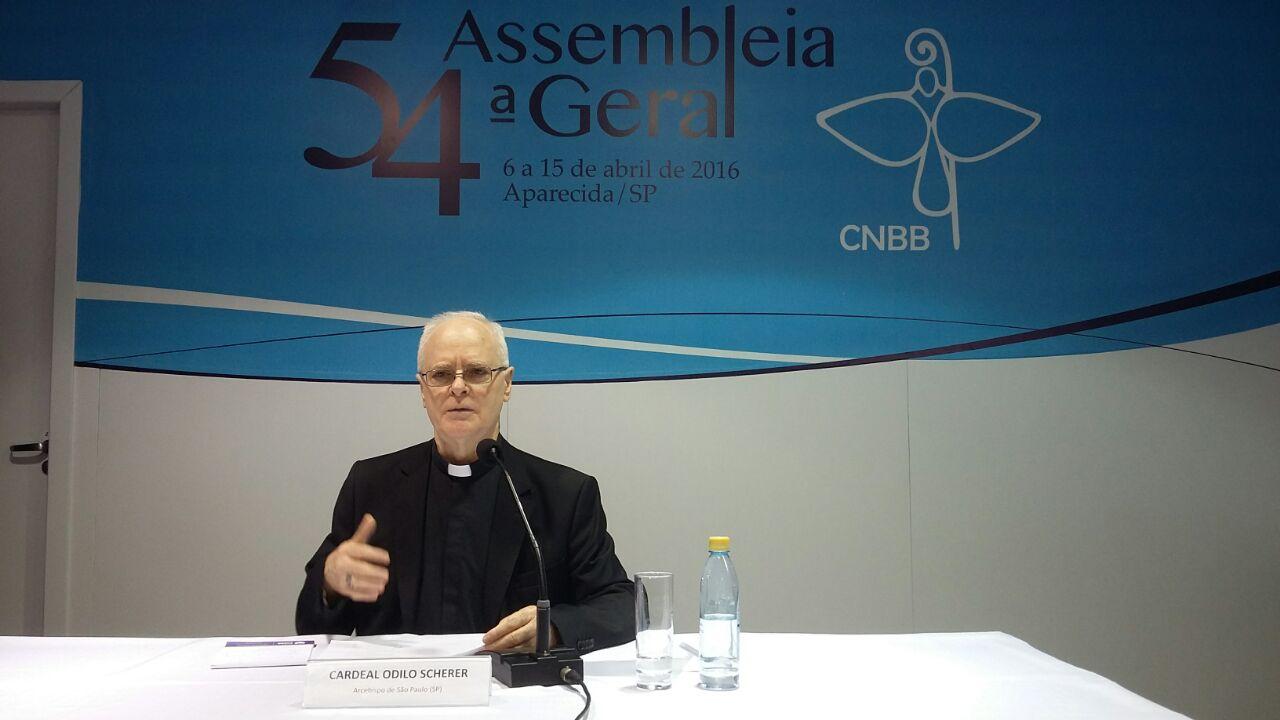 Cardeal Odilo Scherer lembrou que essa Exortação Apostólica é fruto de dois sínodos  sobre o tema da família / Foto: Jéssica Marçal