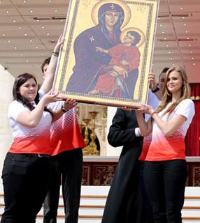 Ícone de Nossa Senhora Salus Populo Romani./ Foto: Site JMJ2016