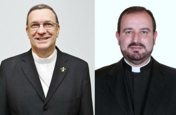 Dom Valdemir Ferreira dos Santos e padre Arnaldo Carvalheiro Neto / Foto: CNBB
