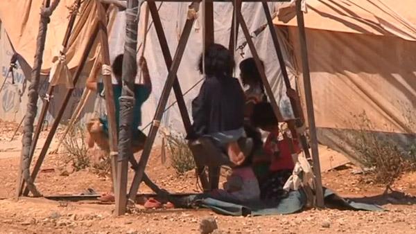 Crianças em campo de refugiados na Jordânia / Foto: Reprodução Reuters
