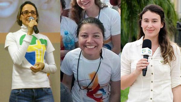 Patrícia, Ada e Fabíola, voluntárias na JMJ 2016 / Foto: Montagem - Arquivo Pessoal